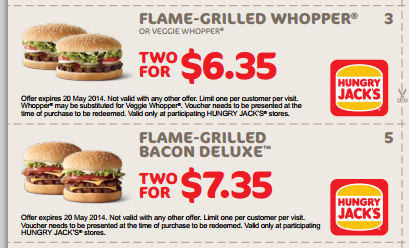 Hungry Jacks Tuesdsay Coupons