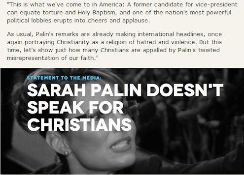 Palin vs Christians