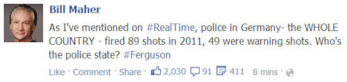 Ferguson-Bill Maher