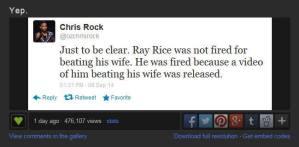 Ray Rice Chris Rock