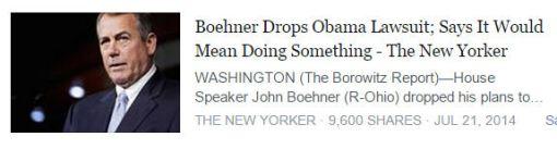 Andy Borowitz - John Boehner
