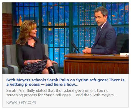 Sarah Palin Seth Meyers